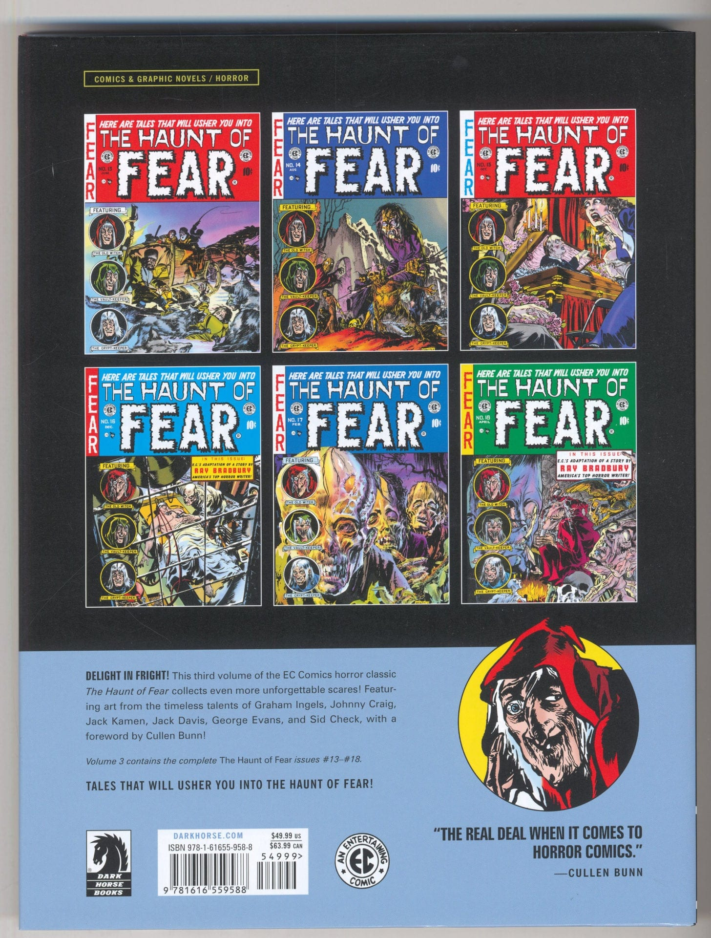 EC Archives The Haunt Of Fear Volume 3 Dark Horse Comics SEALED Graham Ingels